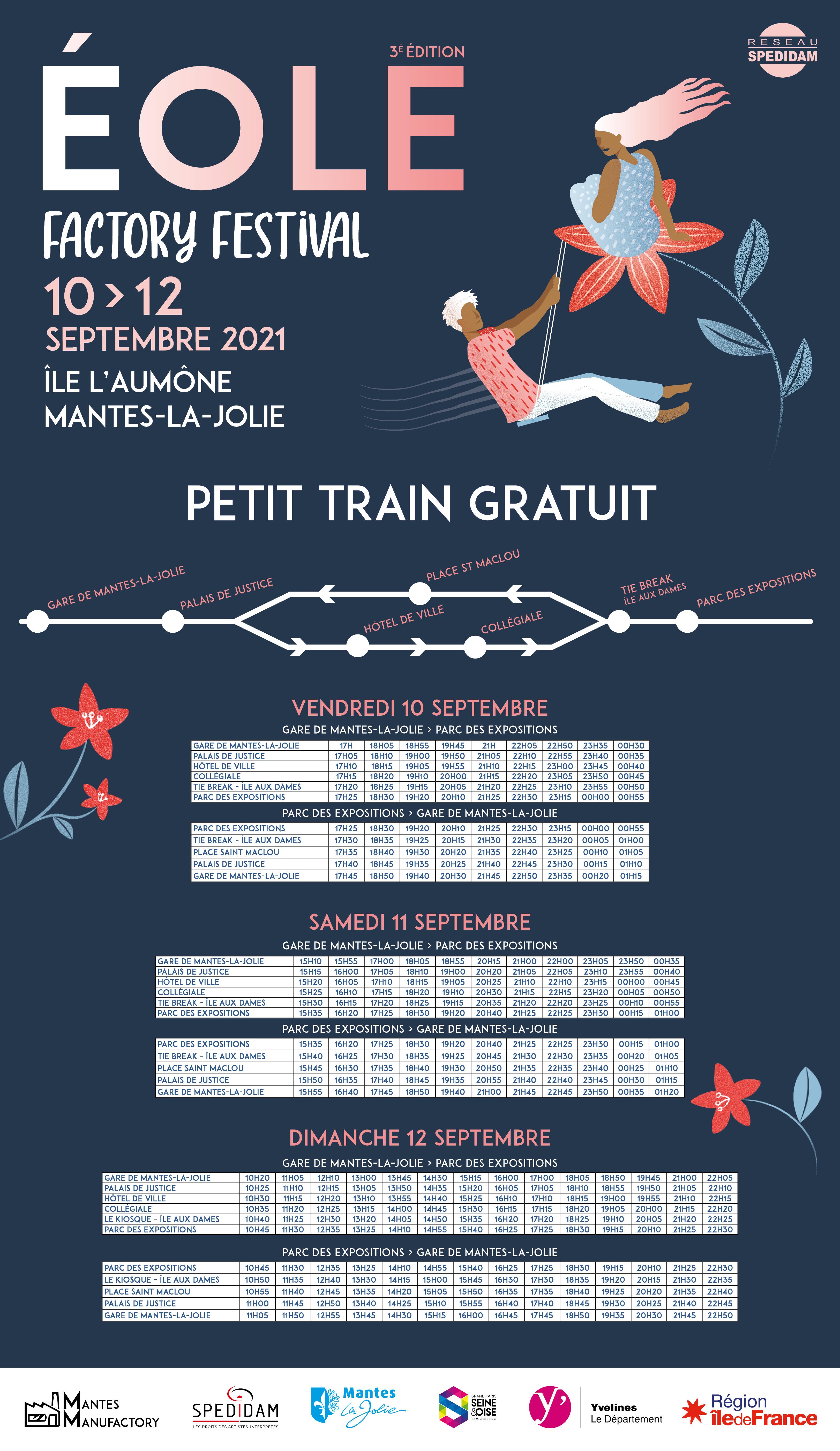 Horaires petit train 2021